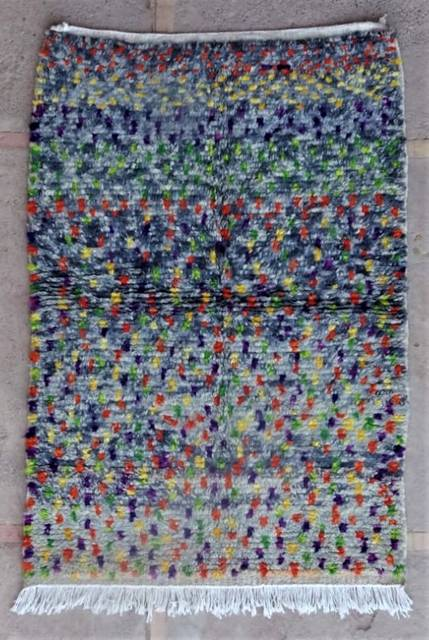 WOOL Rugs - BENI OURAIN Azilal and Ourika moroccan rugs AZ47136