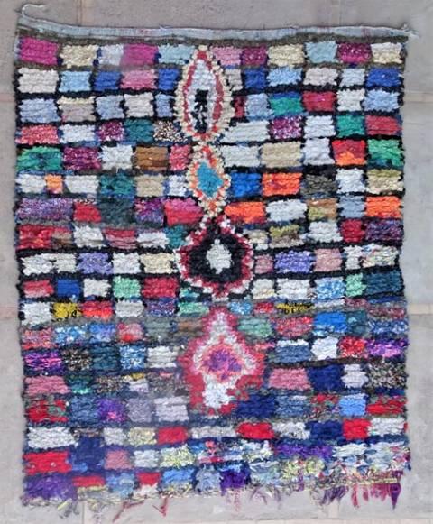 BOUCHEROUITE Boucherouite Large moroccan rugs L47143