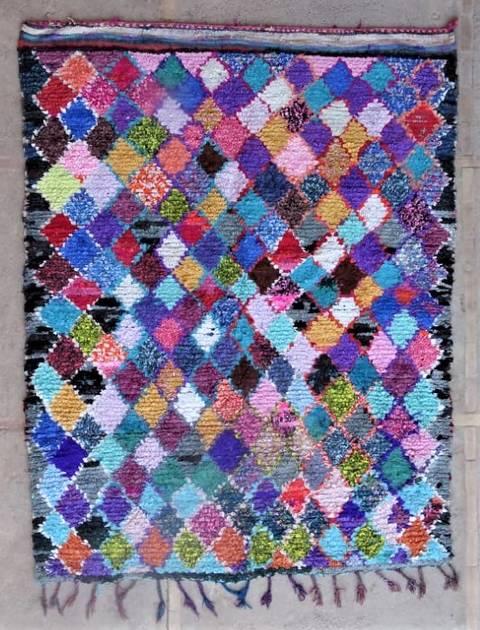 Archive-Sold Boucherouite moroccan rugs L47145