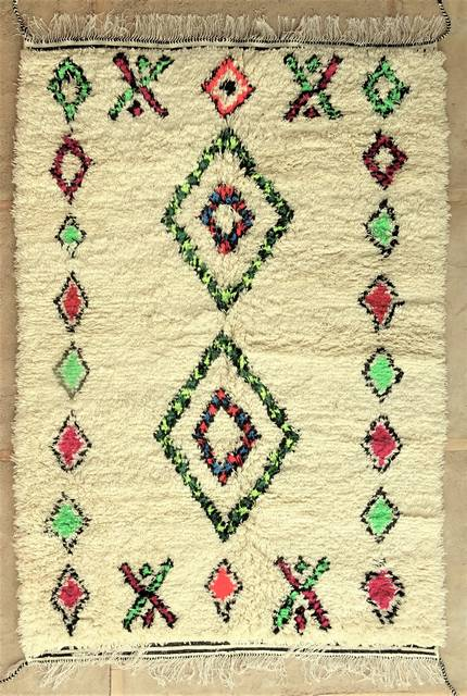WOOL Rugs - BENI OURAIN Azilal and Ourika moroccan rugs AS48001