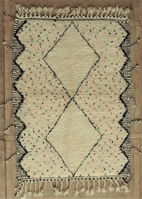 WOOL Rugs - BENI OURAIN Beni Ourain moroccan rugs BO48016/MA