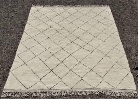 WOOL Rugs - BENI OURAIN Beni Ourain Large sized moroccan rugs BO47149/MA