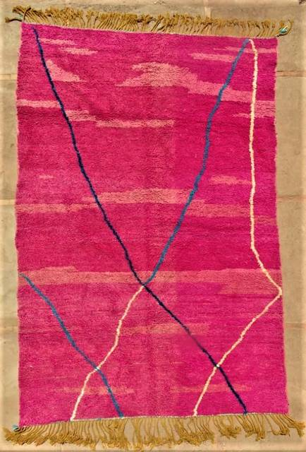 WOOL Rugs - BENI OURAIN Boujad and coloured Beni Ourain moroccan rugs BO47152/MA