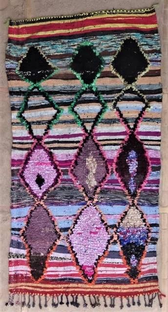 BOUCHEROUITE Boucherouite Medium moroccan rugs T47173