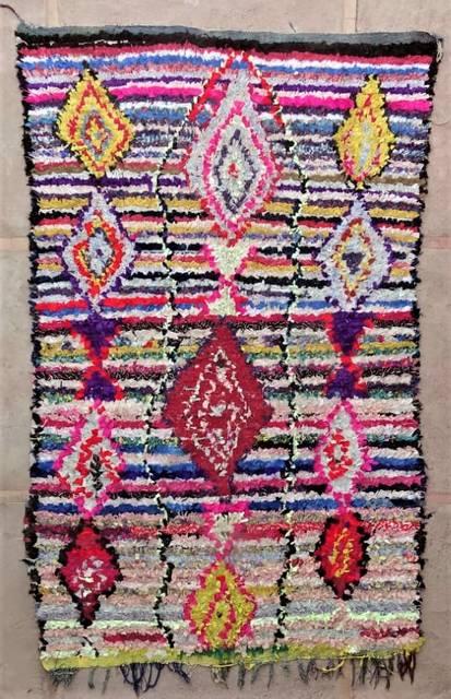 BOUCHEROUITE Boucherouite Grosse Berber Teppich L47176