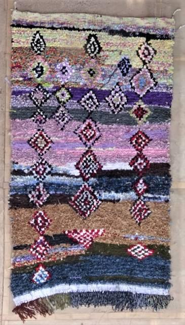 BOUCHEROUITE Boucherouite Medium moroccan rugs T47180