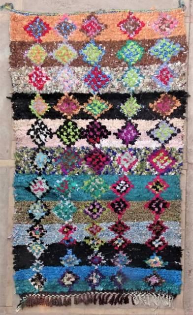 BOUCHEROUITE Boucherouite Mittlere Berber Teppich T47182