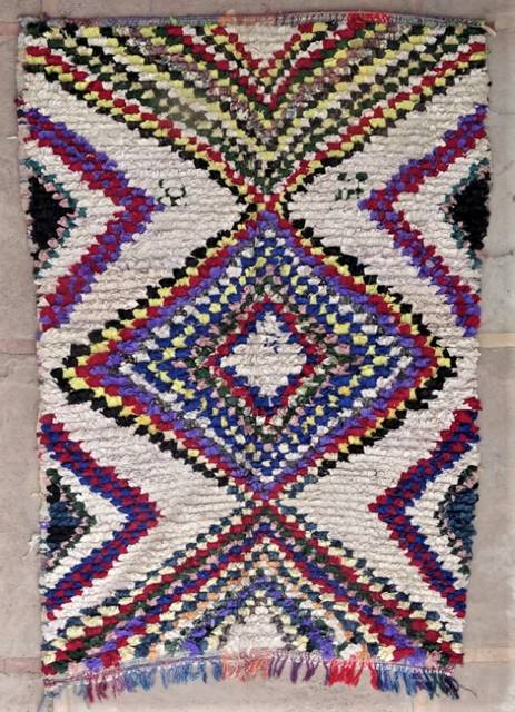 Archive-Sold Boucherouite moroccan rugs L47183