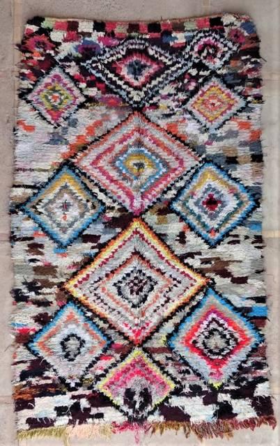 BOUCHEROUITE Boucherouite Grosse Berber Teppich L47188