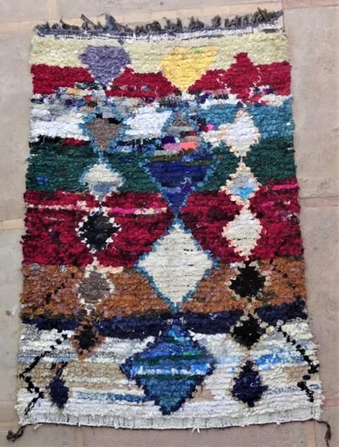 BOUCHEROUITE Boucherouite Medium moroccan rugs T47192