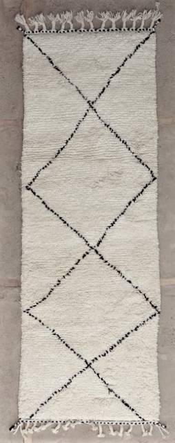 WOOL Rugs - BENI OURAIN Corridor wool rugs ref : BO47243/MA