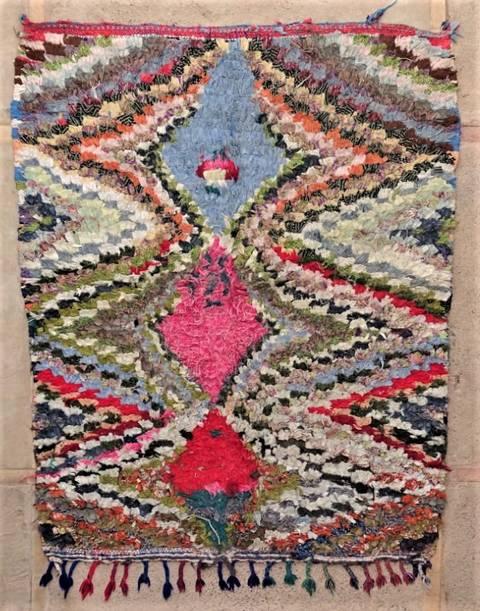 BOUCHEROUITE Boucherouite Mittlere Berber Teppich T47244