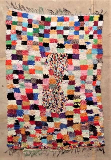 BOUCHEROUITE Boucherouite Large moroccan rugs L47251