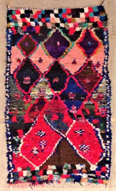 BOUCHEROUITE Collector Boucherouite moroccan rugs TC47253