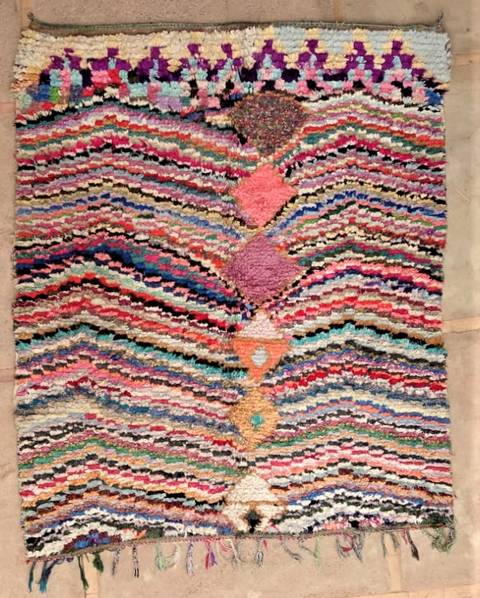 BOUCHEROUITE Boucherouite Grosse Berber Teppich L47254