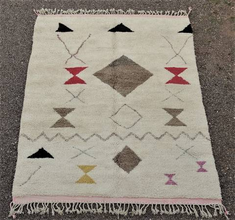 WOOL Rugs - BENI OURAIN Boujad and coloured Beni Ourain moroccan rugs BO48504/MA