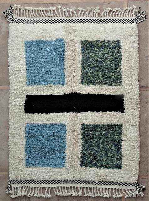 WOOL Rugs - BENI OURAIN Boujad and coloured Beni Ourain moroccan rugs BO48512/MA