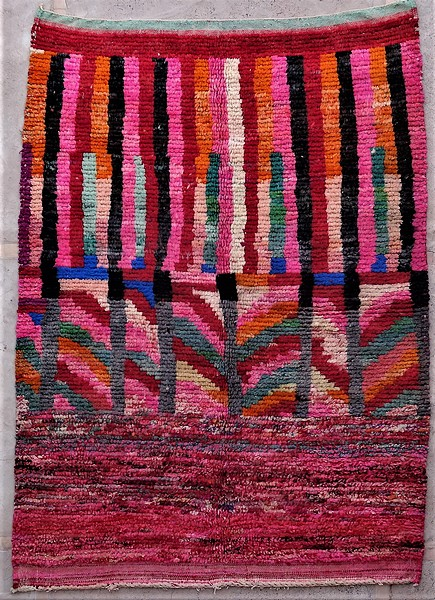 WOOL Rugs - BENI OURAIN Boujad and coloured Beni Ourain ref : BJ48537