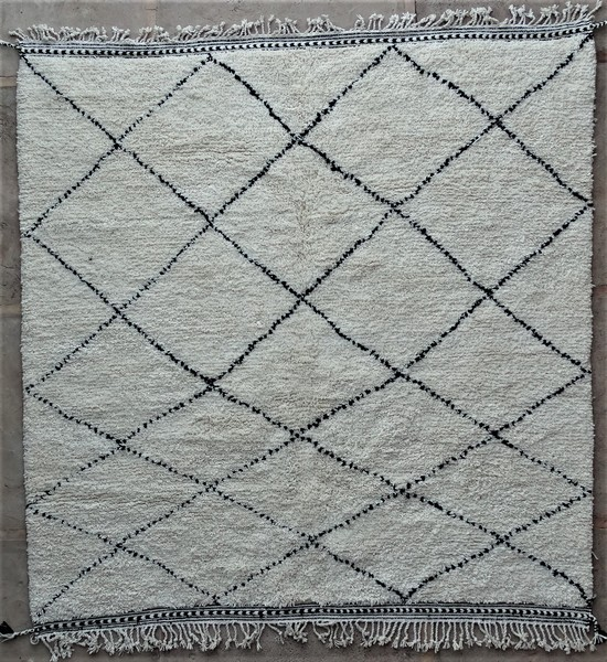 WOOL Rugs - BENI OURAIN Beni Ourain moroccan rugs BO48546 au Maroc