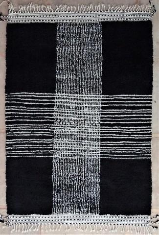 WOLLTEPPICHE - BENI OURAIN Schwarze teppiche Teppich BO48559