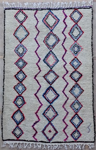 WOOL Rugs - BENI OURAIN Azilal and Ourika moroccan rugs BZ48583