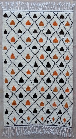 WOOL Rugs - BENI OURAIN Azilal and Ourika moroccan rugs BZ48590