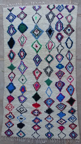 WOOL Rugs - BENI OURAIN Azilal and Ourika moroccan rugs BZ48595