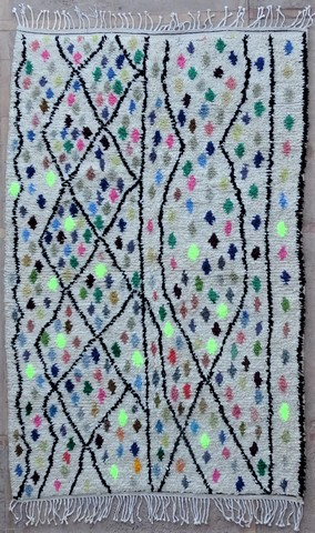 WOOL Rugs - BENI OURAIN Azilal and Ourika moroccan rugs BZ48597