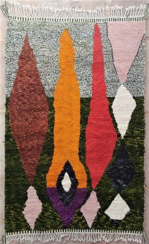 WOOL Rugs - BENI OURAIN Boujad and coloured Beni Ourain ref : BO49009