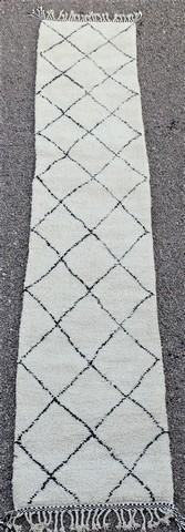 WOOL Rugs - BENI OURAIN Corridor wool rugs moroccan rugs BO49018