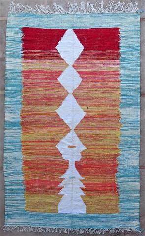 BOUCHEROUITE-KILIMS Boucherouite Large moroccan rugs KC49055 kilim