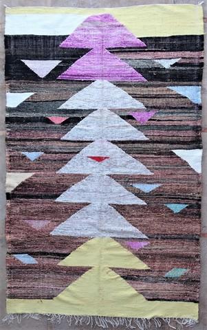 BOUCHEROUITE-KILIMS Boucherouite Large moroccan rugs KC49048 kilim