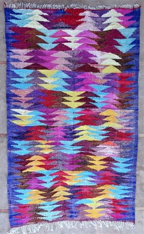 Archive-Sold Boucherouite moroccan rugs KC49049  kilim