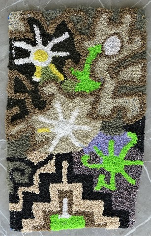 BOUCHEROUITE Collector Boucherouite moroccan rugs ZK49024 Zindek