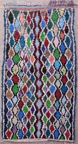 BOUCHEROUITE Boucherouite Medium moroccan rugs T49061