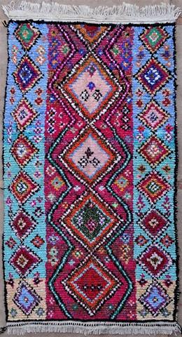 BOUCHEROUITE-KILIMS Boucherouite Medium moroccan rugs T49063