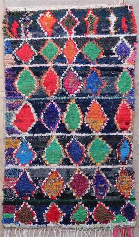 BOUCHEROUITE Boucherouite Medium moroccan rugs T49066