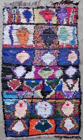 BOUCHEROUITE Boucherouite Medium moroccan rugs T49077