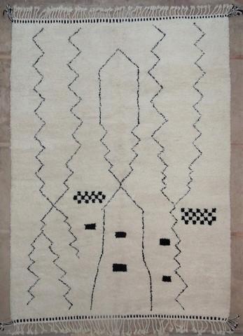 BENI OURAIN-WOOL RUGS Beni Ourain moroccan rugs BO49096