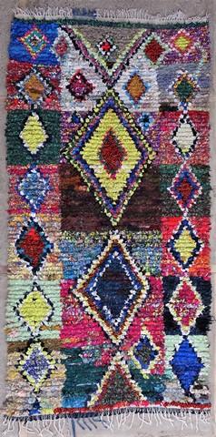 BOUCHEROUITE Boucherouite Medium moroccan rugs T49057