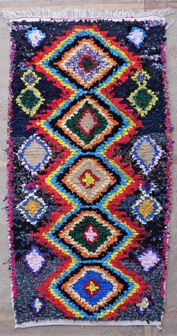 BOUCHEROUITE Boucherouite Medium moroccan rugs T49059
