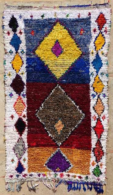 BOUCHEROUITE-KILIMS Boucherouite Grosse Berber Teppich L33166
