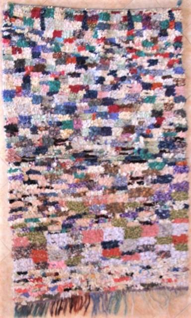 BOUCHEROUITE-KILIMS Boucherouite Mittlere Berber Teppich T31398
