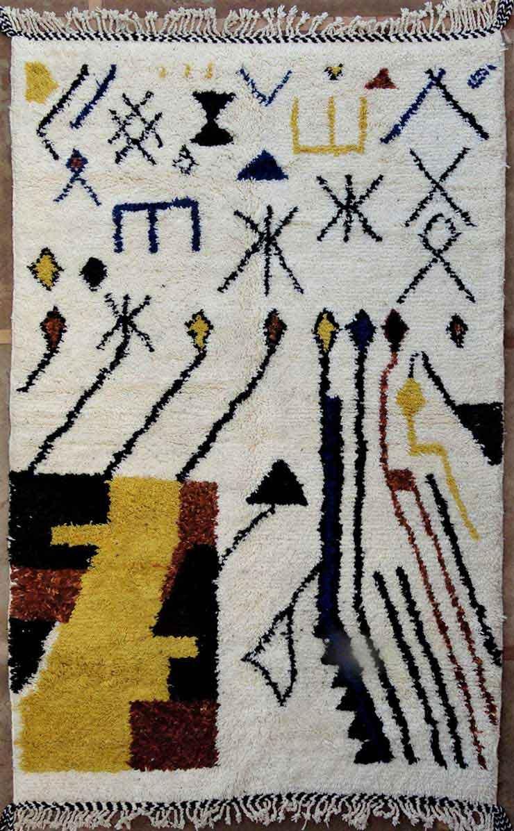 WOOL Rugs - BENI OURAIN  moroccan rugs BO49130