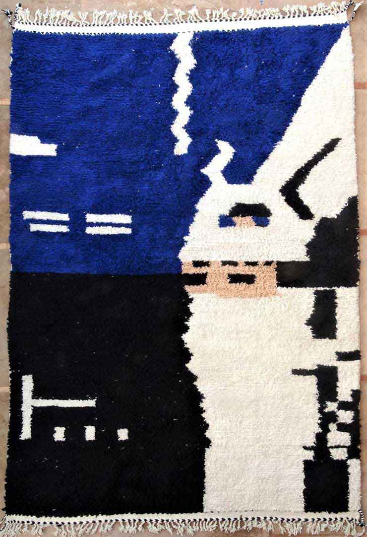 BENI OURAIN-WOOL RUGS Beni Ourain Large sizes ref : BO49132