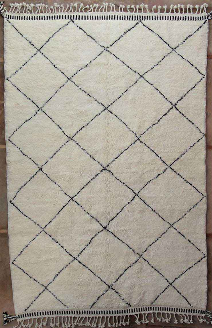 BENI OURAIN-WOOL RUGS Beni Ourain Large sizes moroccan rugs BO49134