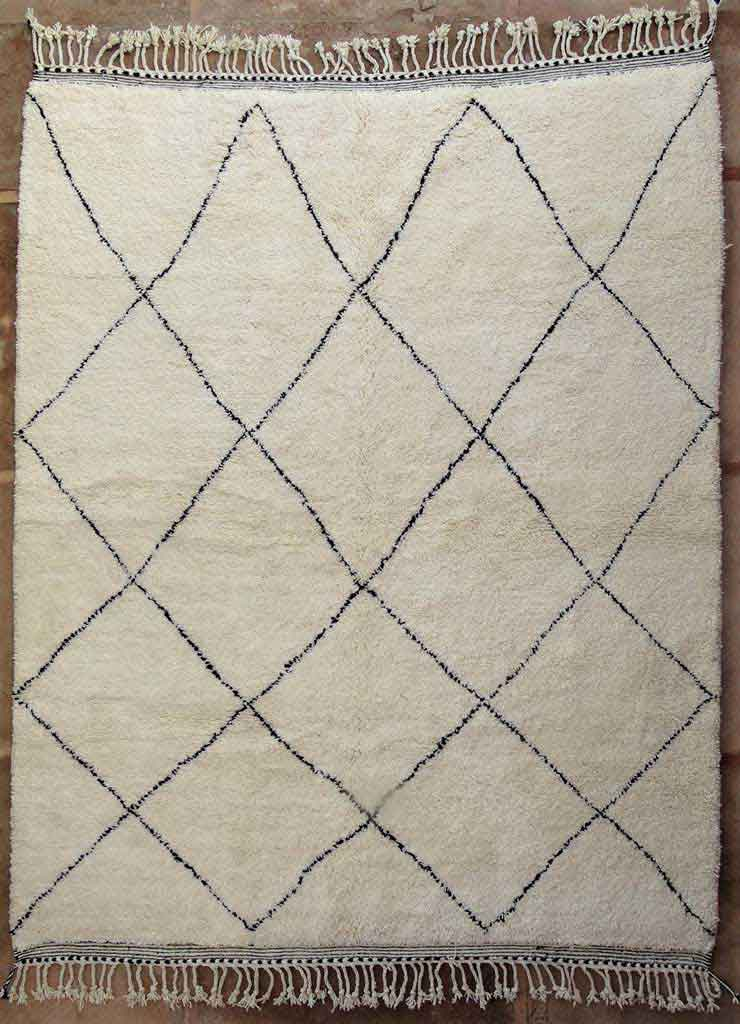 BENI OURAIN-WOOL RUGS Beni Ourain Large sizes moroccan rugs BO49135