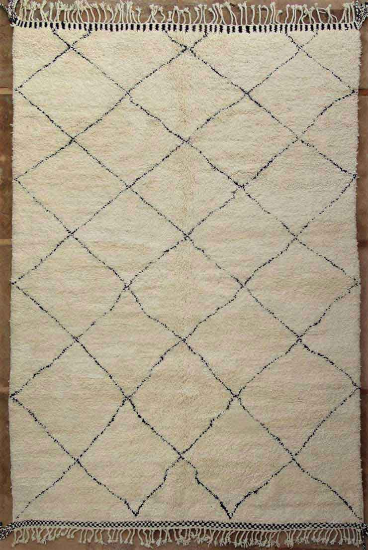BENI OURAIN-WOOL RUGS Beni Ourain Large sizes moroccan rugs BO49136