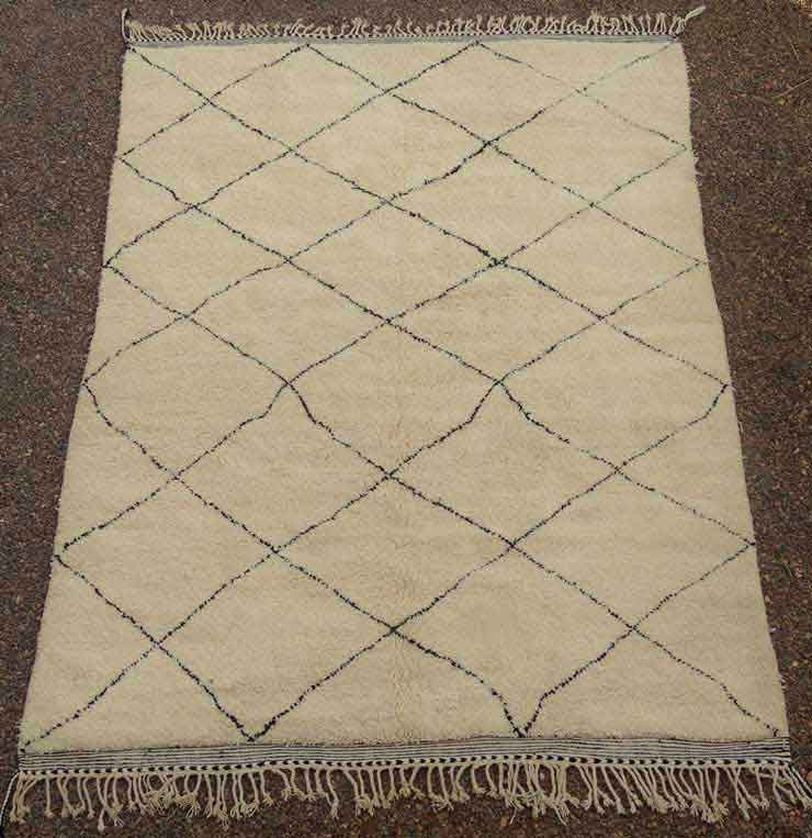 BENI OURAIN-WOOL RUGS Beni Ourain Large sizes moroccan rugs BO49139