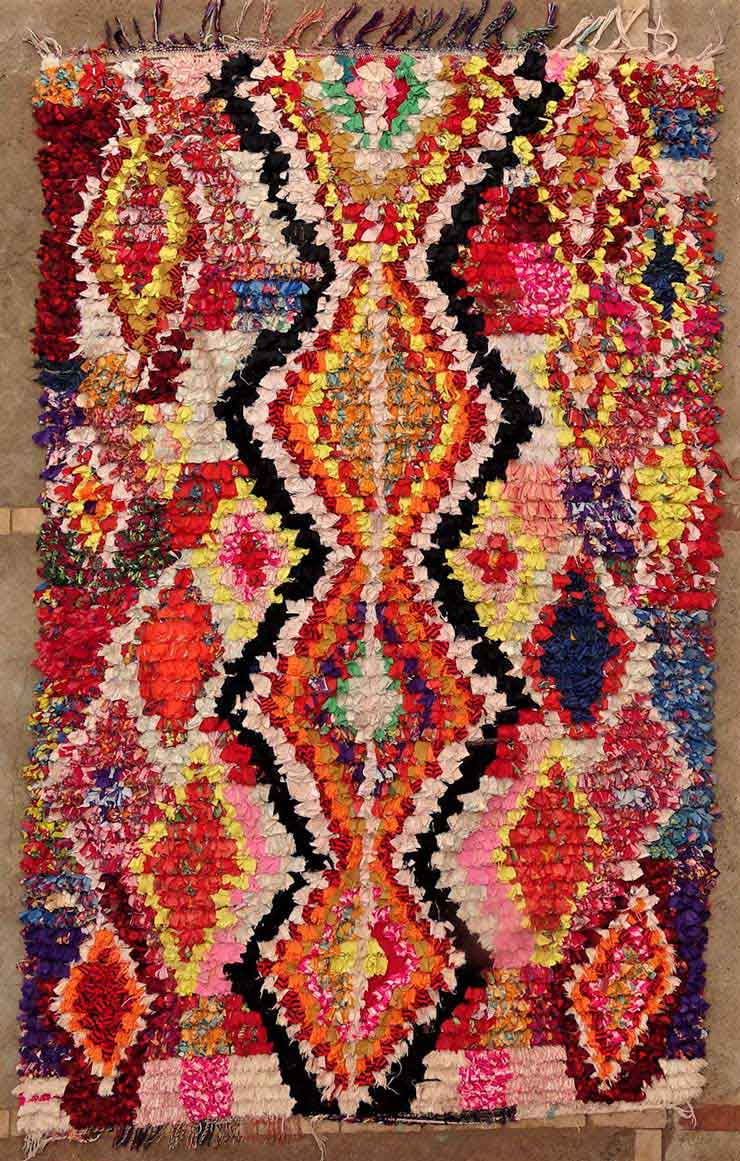 BOUCHEROUITE Boucherouite Medium moroccan rugs TC49143